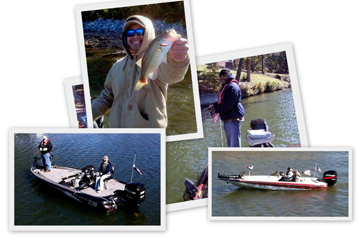 Wounded Soldiers from the 101st Airborne, Ft. Campbell, KY try theit hand at fishing Pickwick aqnd wilson Lakes.