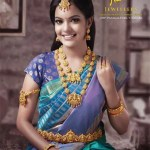 Model in Nalli Jewellers Temple Jewellery