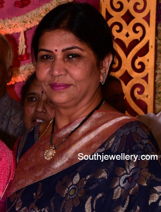 Nirmala Manchu in Short Black Beads Mangalsutra