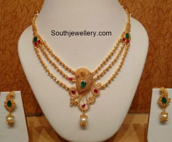 peacock_polki_necklace