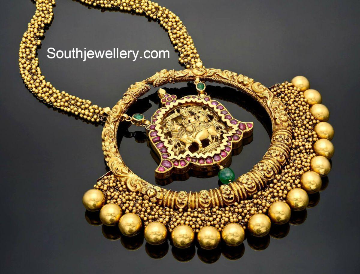 Antique Gold Nakshi Necklace