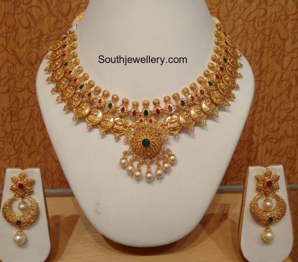 Uncut Diamond Lakshmi Kasu Necklace