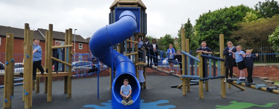 Pupil power as Hunslet Carr gets new playground