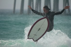 Surfing at the pier, Pier Park Panama City Beach Florida