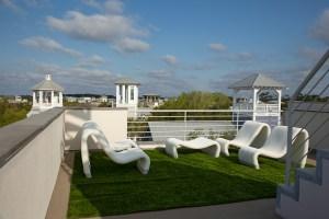 3rd floor roof top living in Seaside Florida