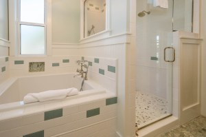 Extra deep soaker tub and separate walk-in shower with two shower heads make the master bath a luxurious sanctuary from everyday stresses.