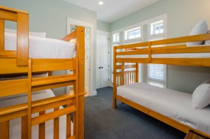 Tuck the kiddos to bed in the double bunks.