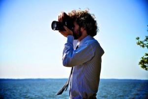 marc taking photos at karas wedding