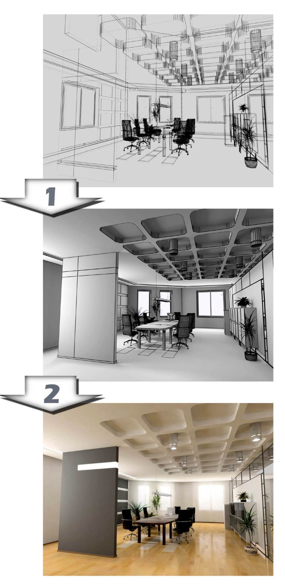 Picture of refurbishment of occupied office space (out-of-hours churn)