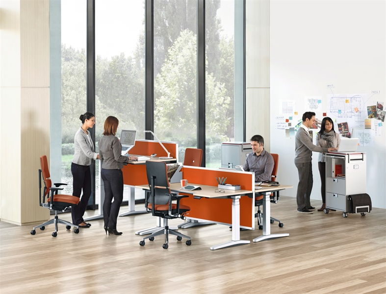 Picture of Steelcase Height-adjustable desks
