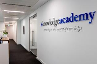 image of office refurbishment wall branding