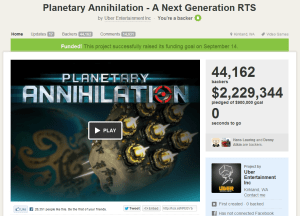 Planetary Annihilation Kickstarter