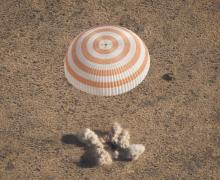 Soyuz TMA-21 lands in Kazakhstan after a 162 days mission (Credits: (NASA/Bill Ingalls).