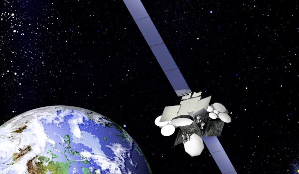 Artist's conception of the Telsat Anik F2 (Credits: Boeing).