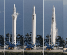The launch of Naro-1 - (Source: Reuters).