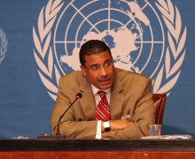 Deputy Assistant Secretary Frank A. Rose, Press Briefing at the United Nations in Geneva (Credits: US Mission Geneva).