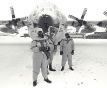 U.S. and Canadian forces, during cleanup of the Cosmos 954 radioactive debris (Source: Royal Canadian Air Force).