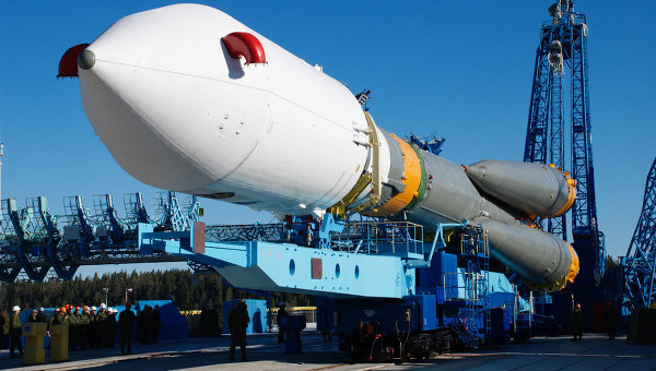 The Meridian 4 satellite, carried by a Soyuz-2.1a rocket (Source: rian.ru).