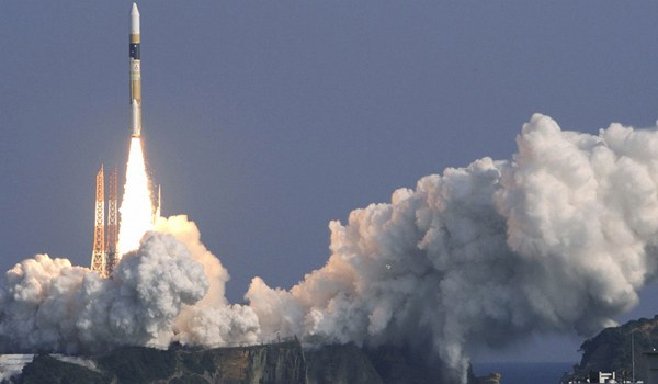 The new spy satellite launching from Tanegashima Space Center atop an H2-A rocket (Credits: Reuters).