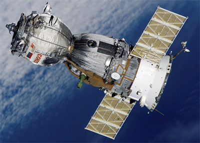THe Soyuz TMA-7 (Credits: NASA).