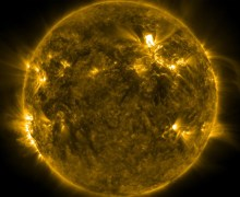 A picture of Tuesday's X-class solar flare (Credits: NASA).