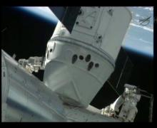 SpaceX's Dragon capsule successfully docked to the Harmony node on the International Space Station (Credits: NASA).
