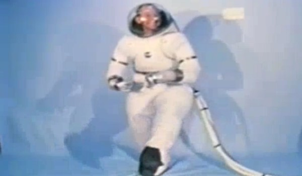 Spacesuit being tested (Credits: NASA)