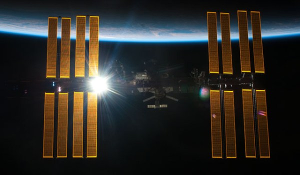 The International Space Station (Credits: ESA).
