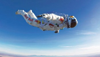 Austrian skydiver Felix Baumgartner survived his plunge, thanks in part to his specialized, pressurized protection. Red Bull Stratos/Associated Press
