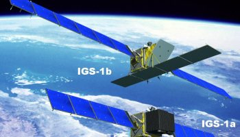 The only pictures available on the web showing the configuration of IGS-1A and 1B satellites appears to be this sketch
