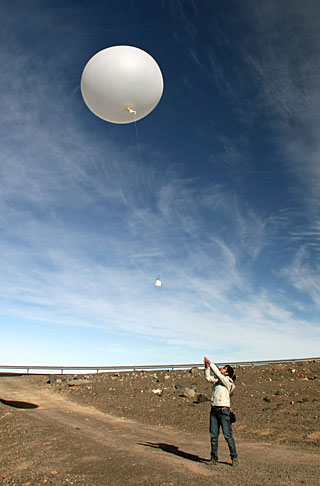 amateur weather balloon