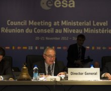 ESA's Director Generale Jean Jaques Dordain at the ministerial held in Naples, on November 2012 (Courtesy: ESA).