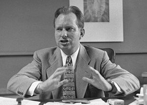 L Ron Hubbard in 1950 from the Los Angeles Times photo archive (Public Domain)