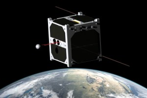 Image of ESTCube-1 operating its experiment (Credits: University of Tartu)
