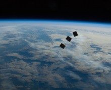 CubeSats launched from the International Space Station's Kibo module on October 4, 2012 (Credits: NASA).