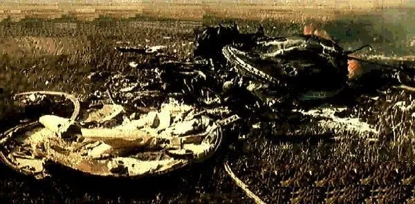 One of few images of the Soyuz 1 crash site ever to be released in the post-Soviet era. Somewhere in the midst of this burning mass of twisted metal lay the remains of the first man to die during a space mission. Credits: Roscosmos.