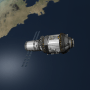 Representation of Tiangong-1 Chinese Space Station credits: kerbalspaceprogram