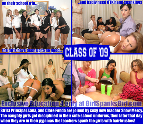 Exclusive Education 4 is here at Girl Spanks Girl