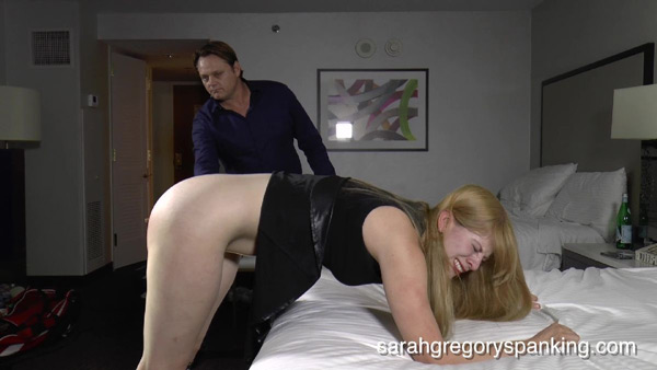 Harley Havik bends over and gets caned to tears