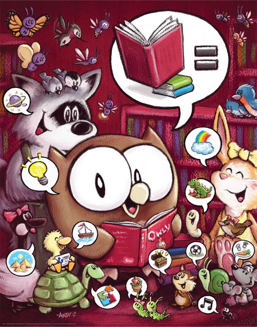 Owly reads by Andy Runton