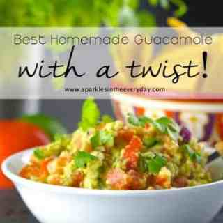 Best Homemade Guacamole with a twist