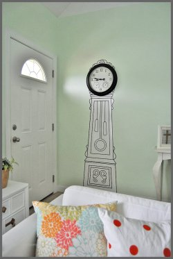 Small Of Grandfather Clock Wall Stickers