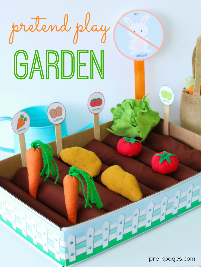 DIY pretend play garden ideas for young children. | speciallearninghouse.com