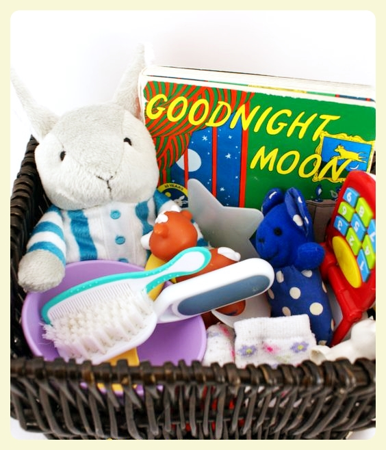 Good Night Moon storytelling basket. Featured by Special Learning House.