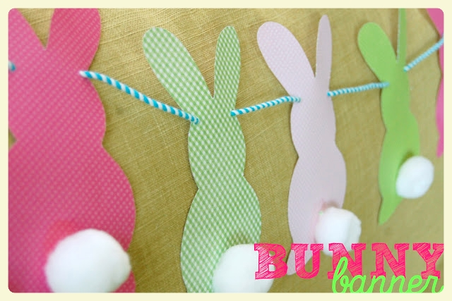 Adorable bunny banner for Easter and 4 other fabulous Easter projects!