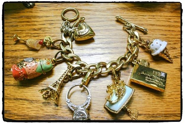 Charm bracelet retouched