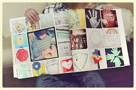 Children's artwork photo book. More ideas for displaying your child's artwork at https://speciallearninghouse.wordpress.com/ !