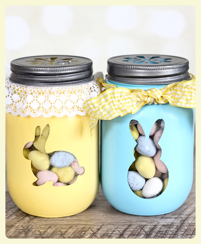 DIY Easter Treat Jars - instructions and 4 other fabulous Easter projects!