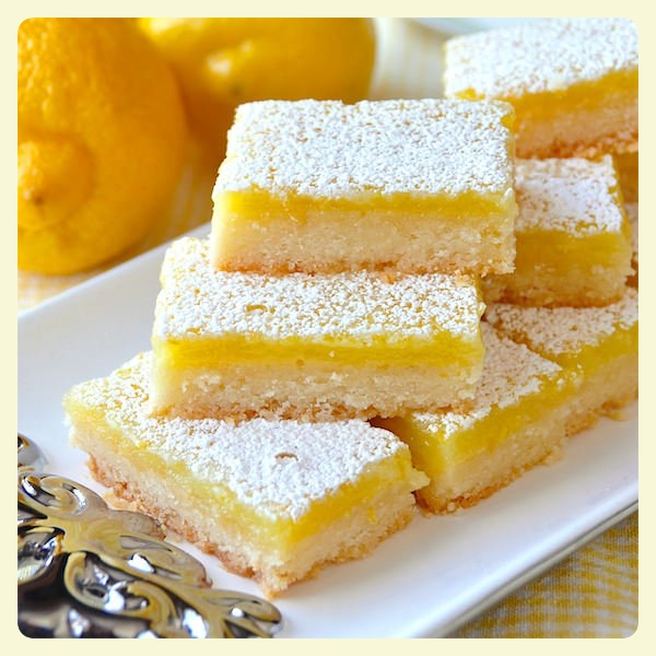 Lemons bars. Fabulous family recipes to try this weekend.
