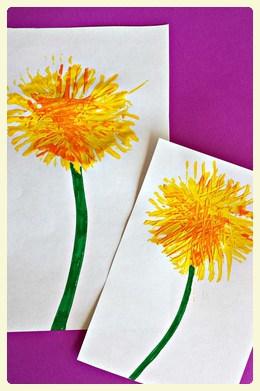 Springtime dandelion craft for kids!
